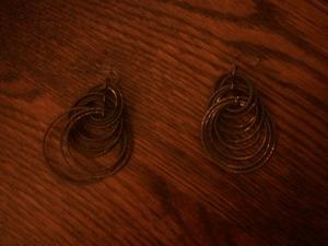 Lia Sophia Bronze Hoop earrings rental Harrisburg-Lancaster-York, PA