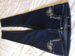 Designer's, Skinny, Embroidered Fashion Jeans, wai rental San Francisco-Oakland-San Jose, CA