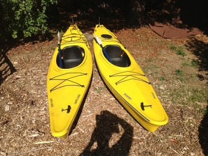 Sea Kayaks (2) with paddles, skirts,and jackets  rental San Francisco-Oakland-San Jose, CA