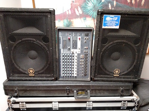 yamaha br 12 speakers & 8 channel mixer package rental Detroit, MI