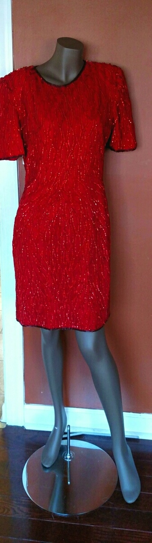 Red Sequin Vintage Dress rental Washington, DC (Hagerstown, MD)