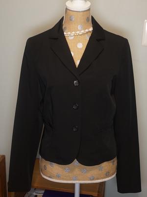 Three-button Black Business Jacket rental Philadelphia, PA