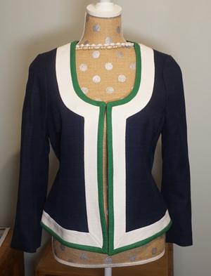 Open Front Textured Cotton Dress Jacket rental Philadelphia, PA