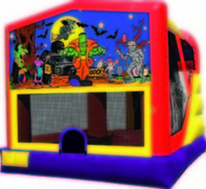 Bounce House & Slide Combo - Halloween rental Austin, TX