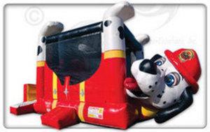 Bounce House & Slide Combo - Fire Dog rental Austin, TX