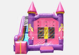 Bounce House & Slide Combo - Princess rental Austin, TX