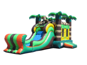 Bounce House Jump N Slide Combo - Rainforest rental Austin, TX