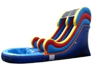 Multicolored Water Slide - 16'  rental Austin, TX