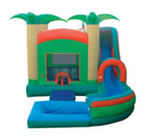 Tropical Jump N Slide Water Slide with Pool rental Austin, TX