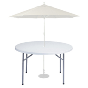 "48"" Round with Umbrella rental Austin, TX"
