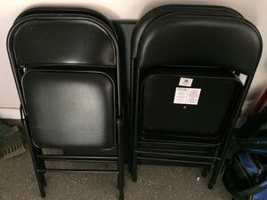 Black card table & 4 chairs rental Austin, TX