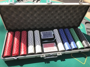 Foldable poker table top and poker chips rental Austin, TX