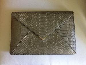 Silver snake skin envelope clutch  rental Austin, TX