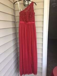 Formal, Floor Length, Red Dress rental Raleigh-Durham (Fayetteville), NC
