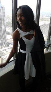 Material Girl Black & White Dress rental Albany, GA