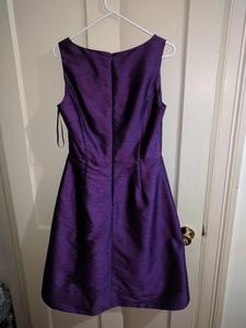 Size 12 Alfred Sung Knee dress in majestic purple  rental Washington, DC (Hagerstown, MD)