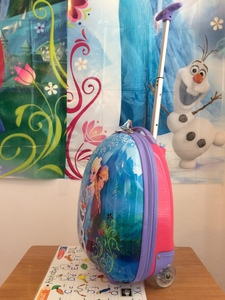 "FROZEN themed 18"" girls suitcase on wheels rental New York, NY"