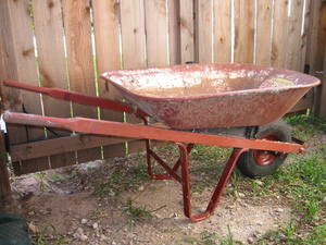 Wheelbarrow - 4 cu. ft. rental Austin, TX