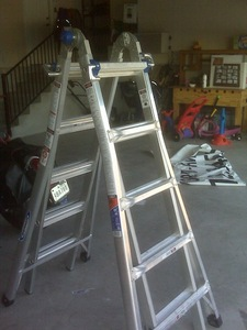 22 ft. Aluminum Telescoping Multi Ladder rental Austin, TX
