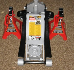 Low Profile Jack and Jack Stands, 3 ton rental Austin, TX