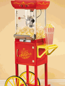 Old Fashioned Movie Time Popcorn Machine and Cart rental Boston, MA-Manchester, NH