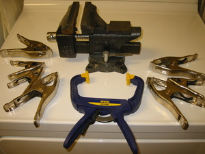 Table vice plus assorted clamps rental Austin, TX